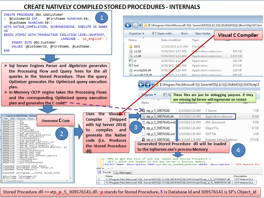 Create Natively Compiled Stored Procedures Internals