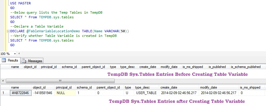 Table Variable Storage Location in TempDB1