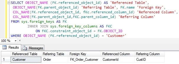 Table Referenced by Another Tables Foregin Key Constraint