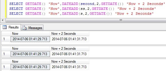 Add Seconds to DateTime in Sql Server