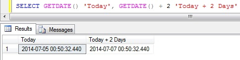 Add days to DateTime in Sql Server 1