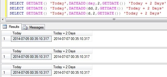 Add days to DateTime in Sql Server