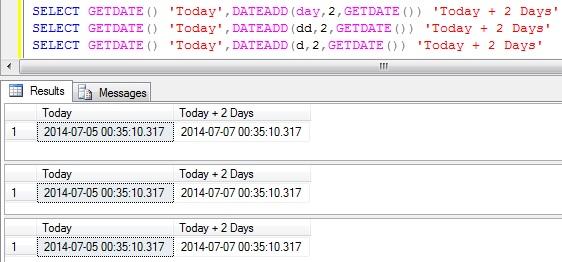 Add days to DateTime in Sql Server