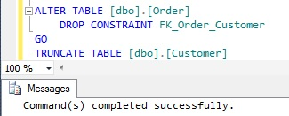 Truncate Table Successful After Dropping of Foreign Key Constraint