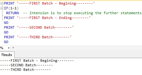 STOP or ABORT the execution Sql Server 1