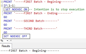 STOP or ABORT the execution Sql Server 4