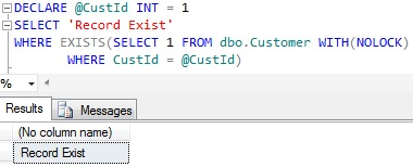 Check if record exists in a table in Sql Server 3
