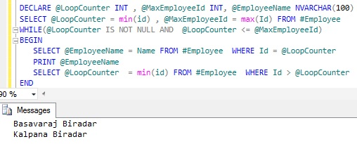 Looping through table records Sql Server 6