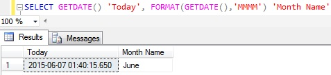 Month name from date in sql server 2