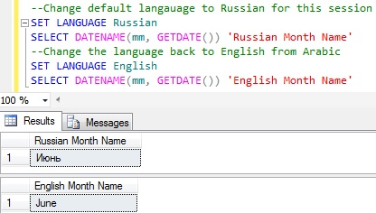 Month name from date in sql server 4