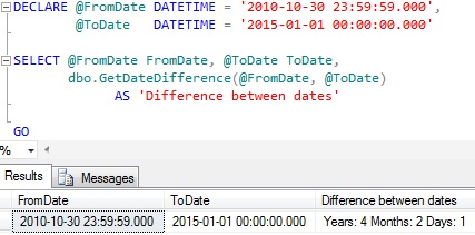 Online date difference calculator