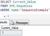 Sequence current value