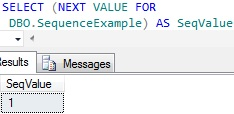 Sequence in Sql Server