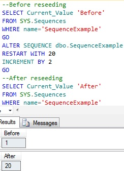 Sequence reseeding example 2