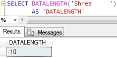 Sql DATALENGTH function Trailing Spaces