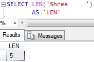 Sql LEN function Trailing Spaces