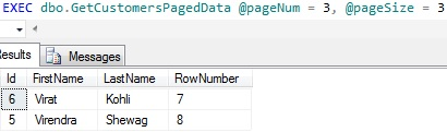 Data Paging by CTE data page 3