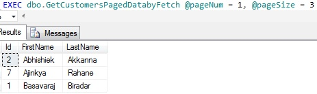 Data Paging by OFFSET and FETCH Page 1