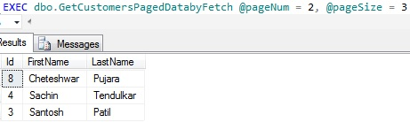 Data Paging by OFFSET and FETCH Page 2
