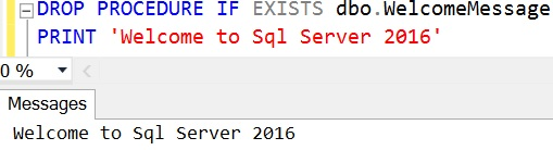 DROP PROCEDURE IF EXISTS Sql Server 2016