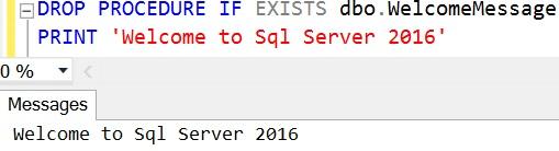 DROP PROCEDURE IF EXISTS Sql Server 2016