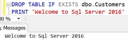 DROP TABLE IF EXISTS Sql Server 2016