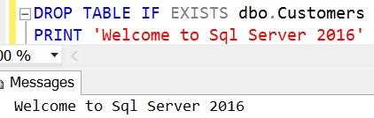 DROP TABLE IF EXISTS Sql Server 2016