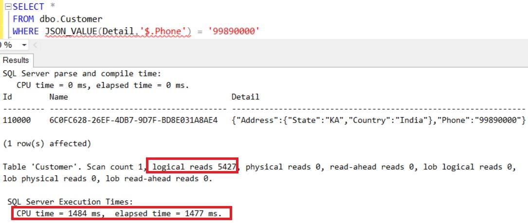 Get Customer Detail using JSON_VALUE function