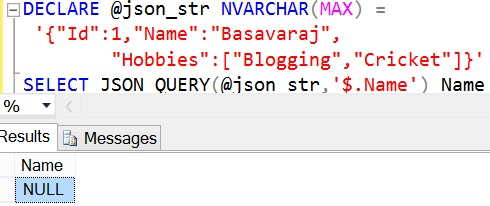 JSON_QUERY Sql Example 3