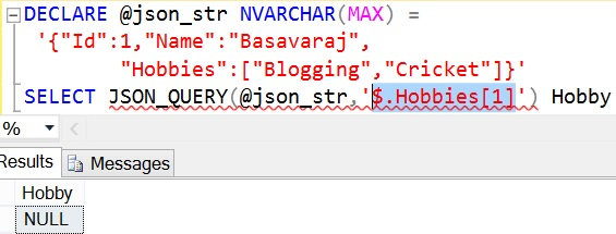 JSON_QUERY Sql Example 5 1