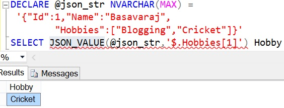 JSON_QUERY Sql Example 5 2