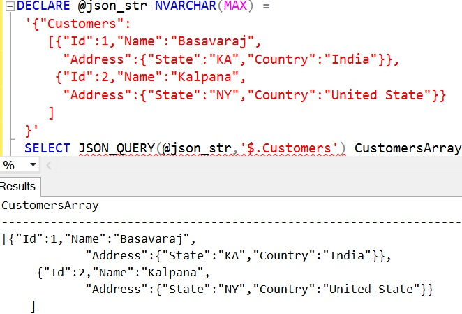 JSON_QUERY Sql Example 7