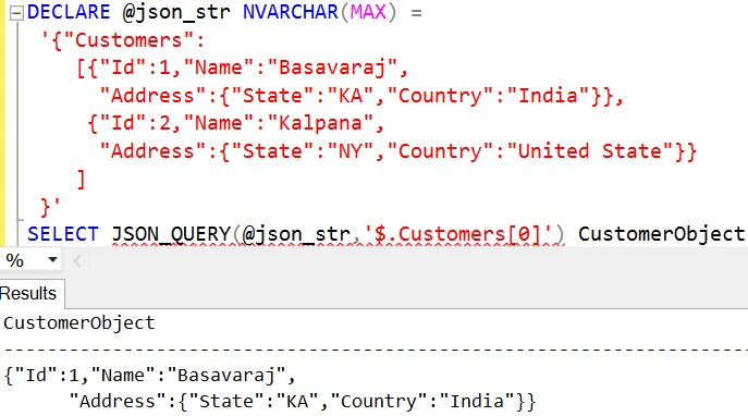 JSON_QUERY Sql Example 8