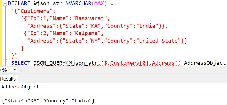 JSON_QUERY Sql Example 9