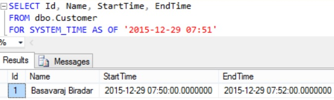 FOR SYSTEM_TIME AS OF Example 1