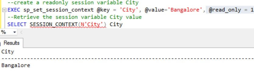 SessionContext Setting Readonly Variable value Example 3