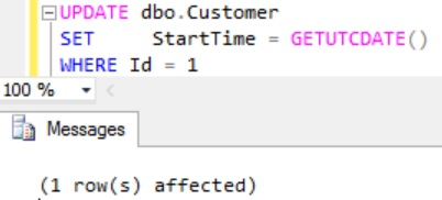 Updating Temporal Table PERIOD column value