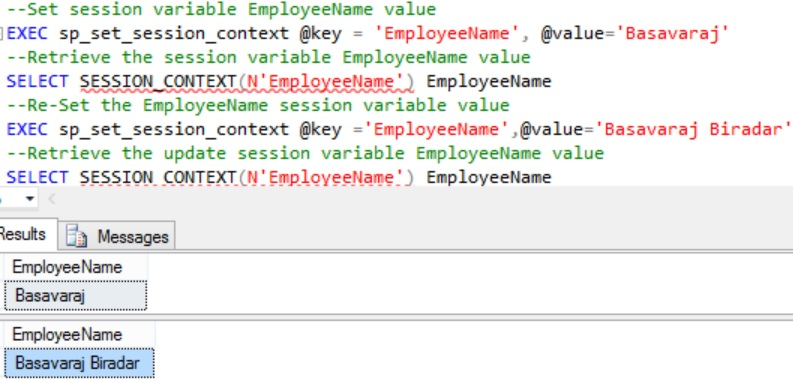 updating session context value Example 2