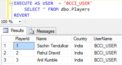 Row Level Security BCCI_USER row access After Insert