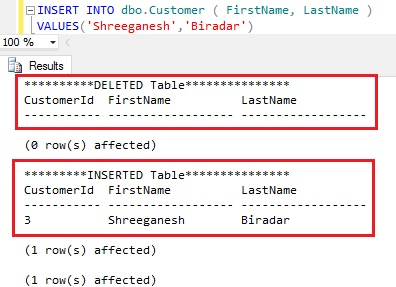 INSERTED DELETED TABLE ENTRIES IN CASE OF INSERT