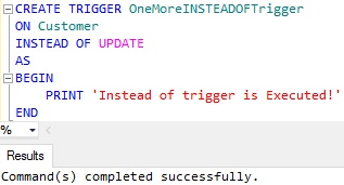 INSTEAD OF Trigger for Update
