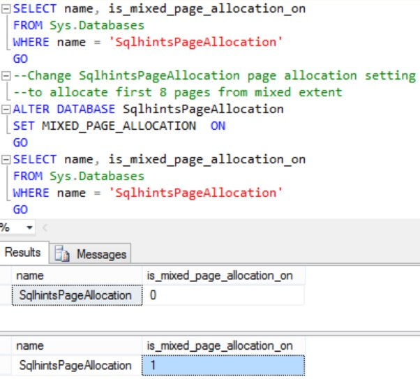 Changing MIXED_PAGE_ALLOCATION Setting