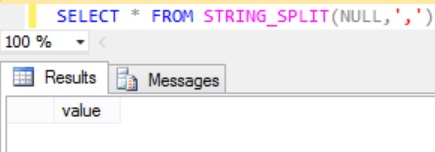 Sql STRING_SPLIT Function Example 5