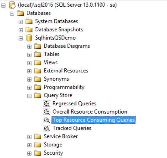 Top Resource Consuming Queries Option