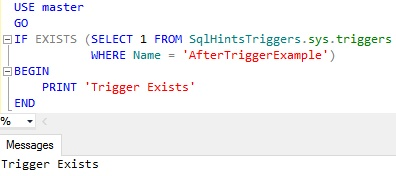 Check IF Trigger Exists Example 2