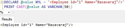 Sql Server PRINT Example 4.3