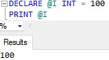 Sql Server PRINT Example 5.1