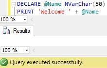 Sql Server PRINT Example 62