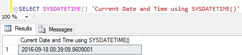 current-date-and-time-in-sql-server-using-sysdatetime