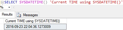 current-time-using-sysdatetime-in-sql